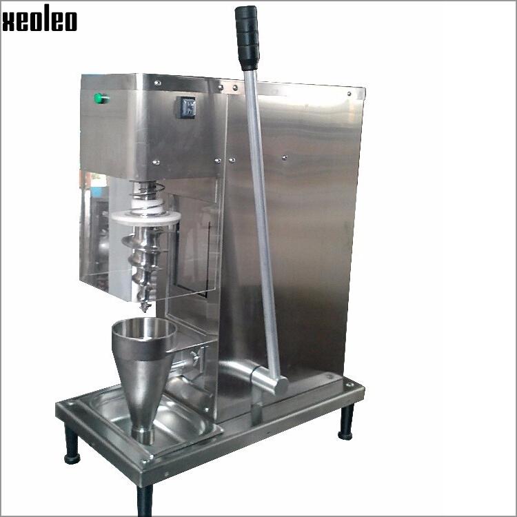 Xeoleo tap water(valve) self-cleaning swirl fruit frozen yogurt mixer CE approved 220V/110V fruit frozen yogurt mixing machine(China (Mainland))