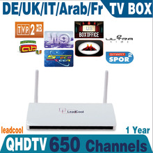Free Shipping Hot Sale Android French & Arabic IPTV Box Free 1 Year 680 HD Live TV IPTV Set Top Box French Apk Account Included