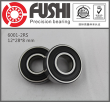 6001-2RS Bearing ABEC-5 (10PCS) 12x28x8 mm Sealed Deep Groove 6001 2RS Ball Bearings 6001RS 180101 RS(China (Mainland))
