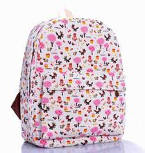 New Lovely printing backpack children women travel bags girl cartoon canvas school backpack 31 styles mochila feminina