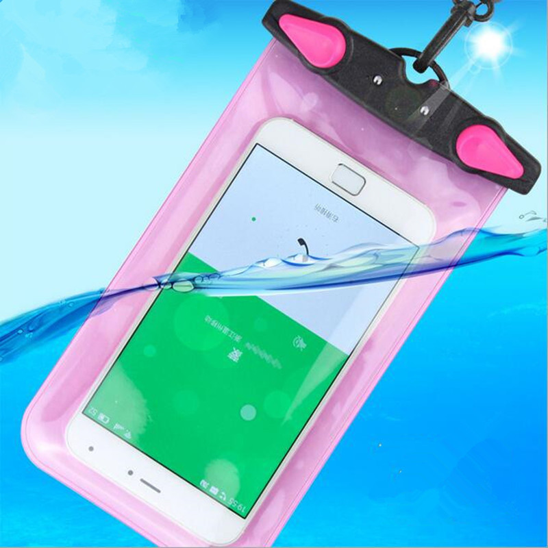 100% sealed underwater mobile phone case for phone/key/cash and take picture waterproof phone bag cover For all smart phone case(China (Mainland))