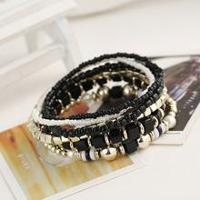 vintage bracelets for women hollow multilayered bracelet good quality black color vintage bracelets for women best friend news(China (Mainland))