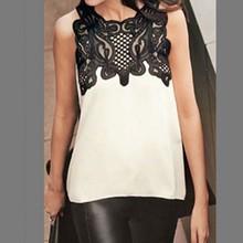 Buy Summer Women Blouse Casual Sleeveless Chiffon Lace Blouse Shirt Summer Tops Renda Crochet Casual Shirts Tops for $3.54 in AliExpress store