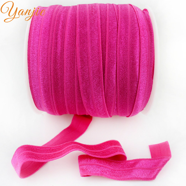 """50Yards/Color 72 colors 5/8"""" Shimmery Solid FOE For Baby Girls And Kids DIY Elastic Headband Hair Ties Headwear CHOOSE ONE COLOR"""