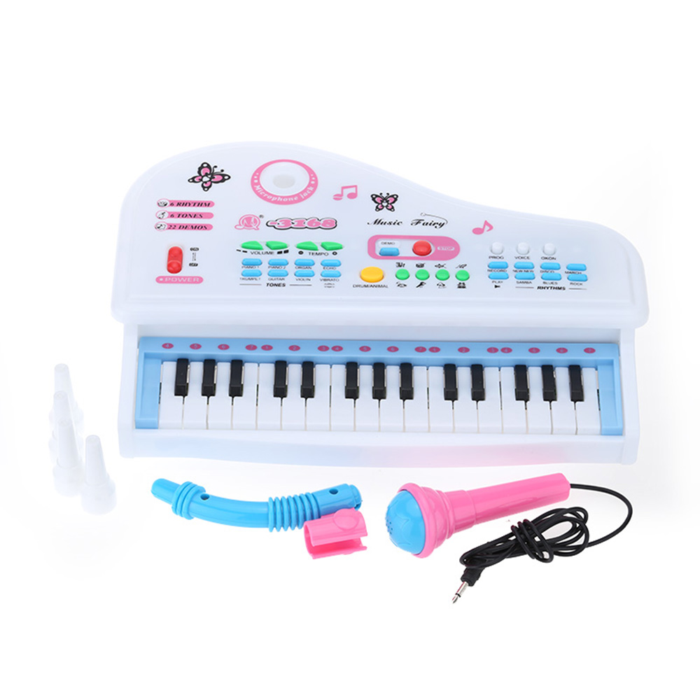 31 Keys Mini Simulation Piano Toy Electrical Keyboard Electone with Detachable Microphone Gift for Children(China (Mainland))