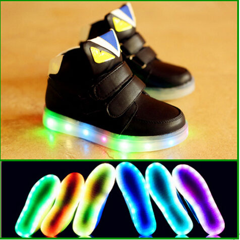 2016 European Fashion Colorful Lighted baby children sneakers hot sales cool children boots high quality boys girls kids shoes