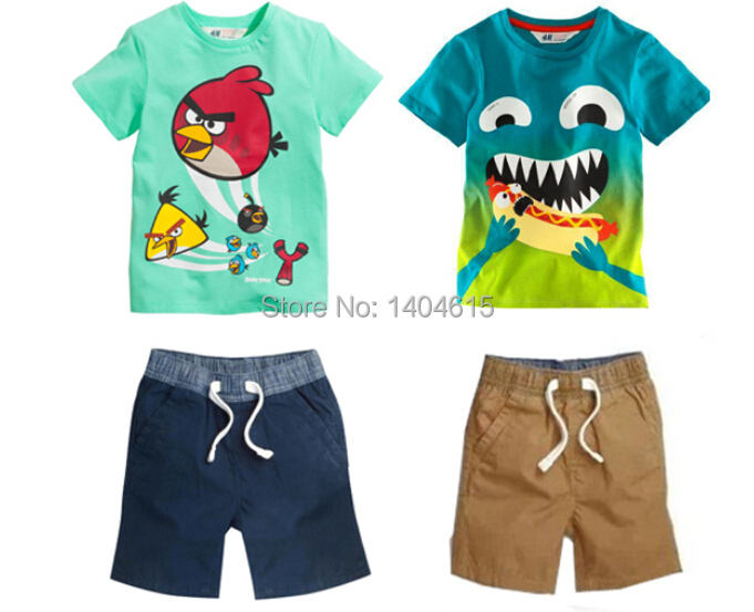 RT-107 free shipping new arrival boys clothing set boys summer clothes suit T-shirt + pants children's suits retail(China (Mainland))