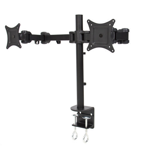 Dual Lcd Monitor Desk Mount Stand Clamp Bracket Adjustable