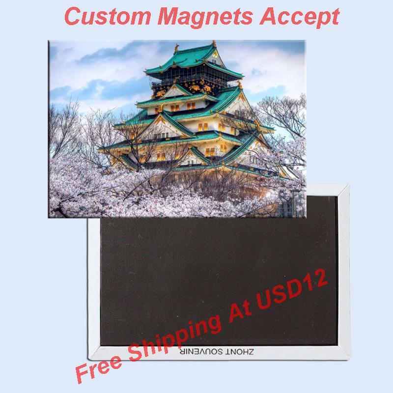 Rectangle Rigid Magnets Home Decor Stickers,Japan Osaka Castle Souvenir Fridge Magnet 5654(China (Mainland))