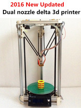 He3D high quality Dual Extruder reprap 3d printer delta 3d printer DIY kit 2GB SD For free