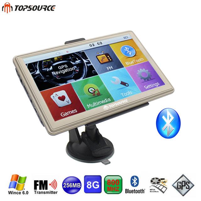 7 дюймов Автомобиля GPS Навигации Емкостный экран FM Построен в 8 году ГБ/256 М WinCE 6.0 Карта Для Европы/США + Канада Грузовик автомобиль gps Навигатор