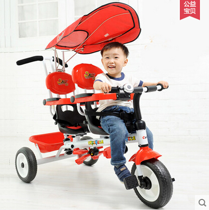 Buggiest twins double child tricycle bike double seats baby tricycle buggiest baby stroller(China (Mainland))
