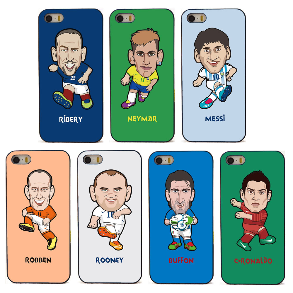 7 kinds of cute cartoon football star phone cover for Apple iPhone 6 6s case black hard plastic coque(China (Mainland))