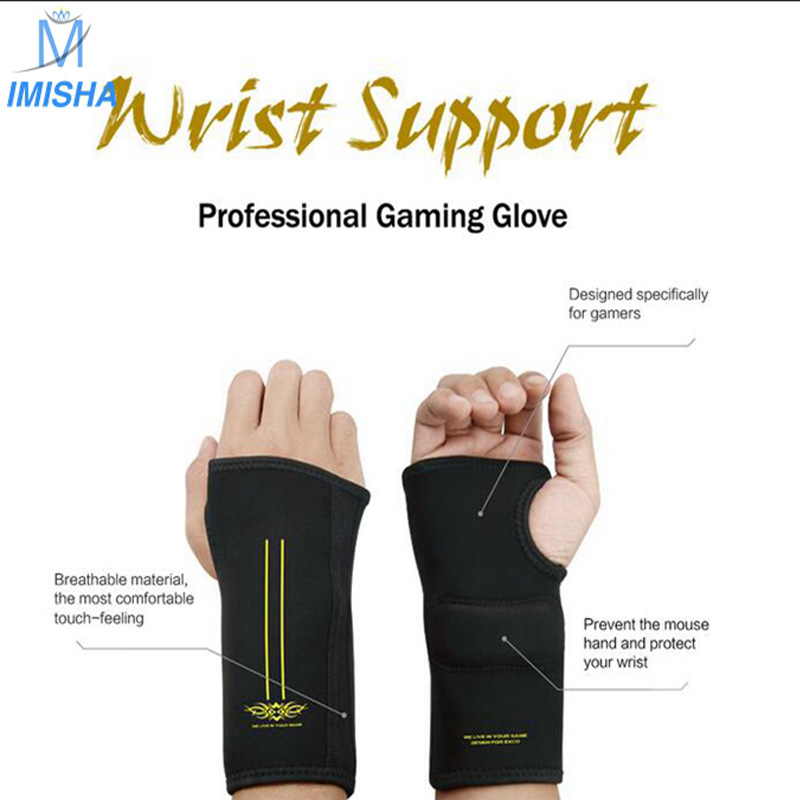 Imisha Fashion Professional National Patent Healthy Style Gaming Wrist mouse pad Support Gloves Mat Neoprene EVA Mouse Pad(China (Mainland))