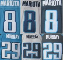 New Arriaval Men's demarco murray #29 jersey #8 Marcus Mariota Blue white Jerseys Embroidery logo M-3XL(China (Mainland))