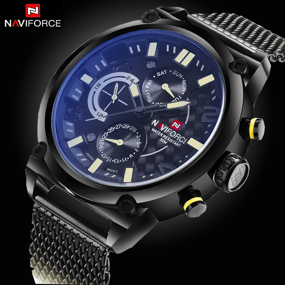 CHRONOGRAPH 24 Hours Function Sport Watch Stainless Steel Band Luxury Men Watch Men Top Brand Military Watch relogio masculino(China (Mainland))