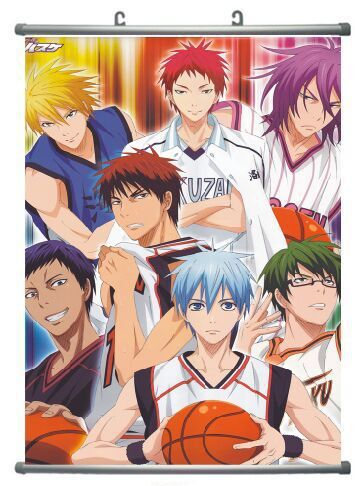 HOT SALE Japanese Anime Wall Scroll Paintings Kuroko's Basketball Art Canvas Paintings Wall Picture 63cmx40cm(China (Mainland))