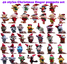 40 Styles Christmas Finger Puppets Set Kids Baby Finger Puppets 40PCS Different Kids Animals Wholesale Toys(China (Mainland))