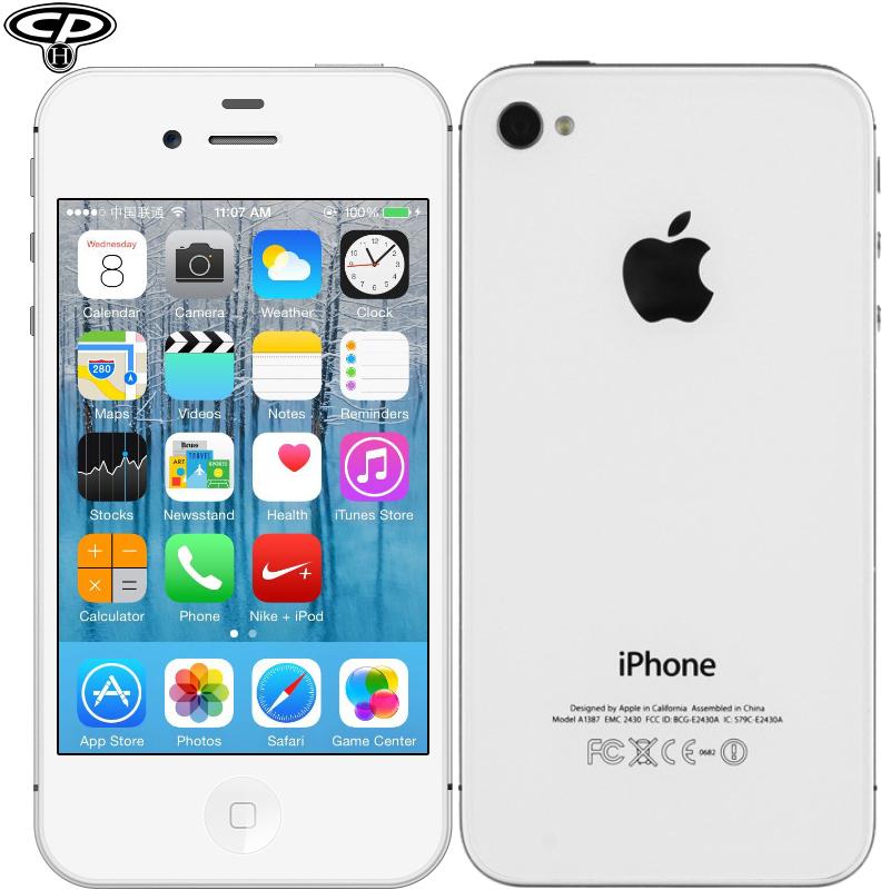 "Original Apple iPhone 4s Unlocked Smartphone Dual-Core 8GB 16GB 32GB 3.5"" IPS 8MP WIFI 3G WCDMA IOS 8 Used CellPhone"