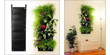 Buy 7 Pocket Container Bags Wall Hanging Vertical Felt Flower Pots Garden Plant Grow Planter Green Field Pot Flowers Indoor Outdoor for $8.70 in AliExpress store