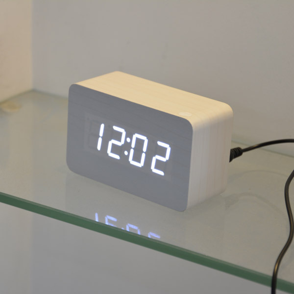2014 new designer Thermometer LED Digital clock, Sounds control Alarm clocks,desktop table clock for drop shipping(China (Mainland))