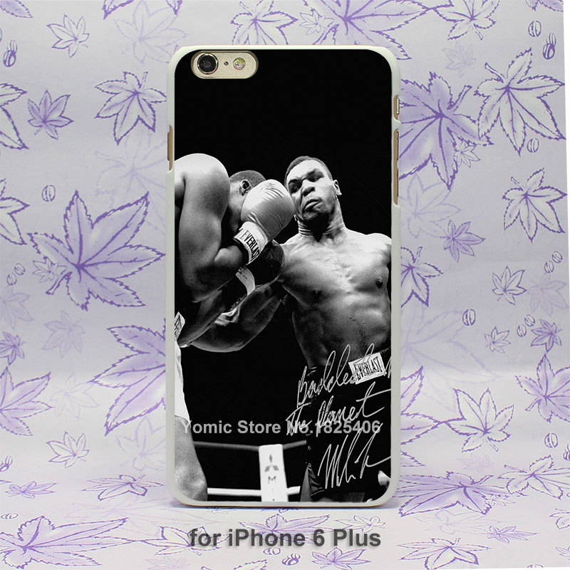 tyson punch ring boxing sports Pattern hard White Skin Case Cover for iPhone 4 4s 4g 5 5s 5c 6 6s 6 Plus(China (Mainland))