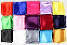 2014 new style big size Emulation silk scarf, Pure color satin square scarf woman 90*90cm(China (Mainland))