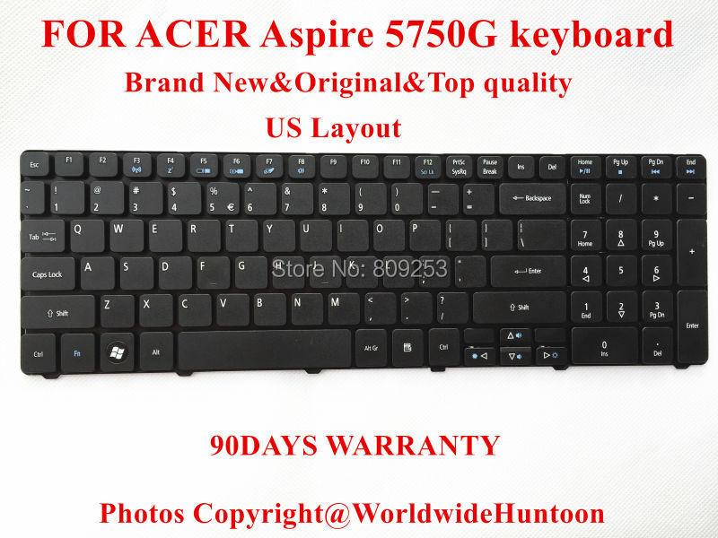 100% Brand New Original laptop keyboard for ACER Aspire 5750 5750G Keyboard US Layout 90Days Warranty Free shipping(China (Mainland))