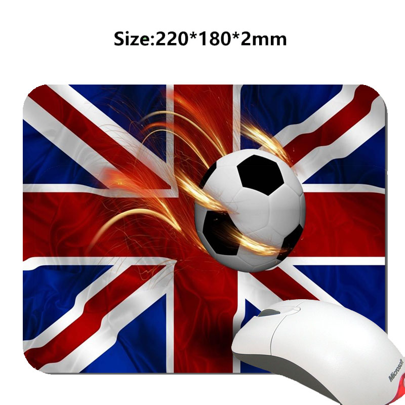 Hot Selling Flag and Football Art Design Mouse Mat Custom High Quality Non-slip and Durable Computer and Laptop Mouse Pad(China (Mainland))