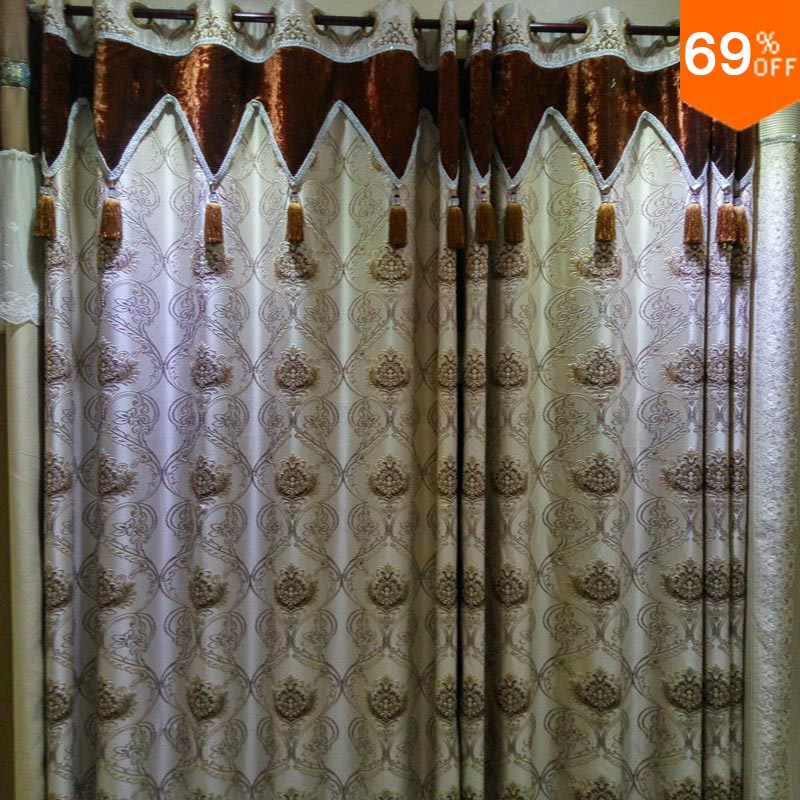 2016 new simple luxurious rod stick hang style living room for Diner style curtains