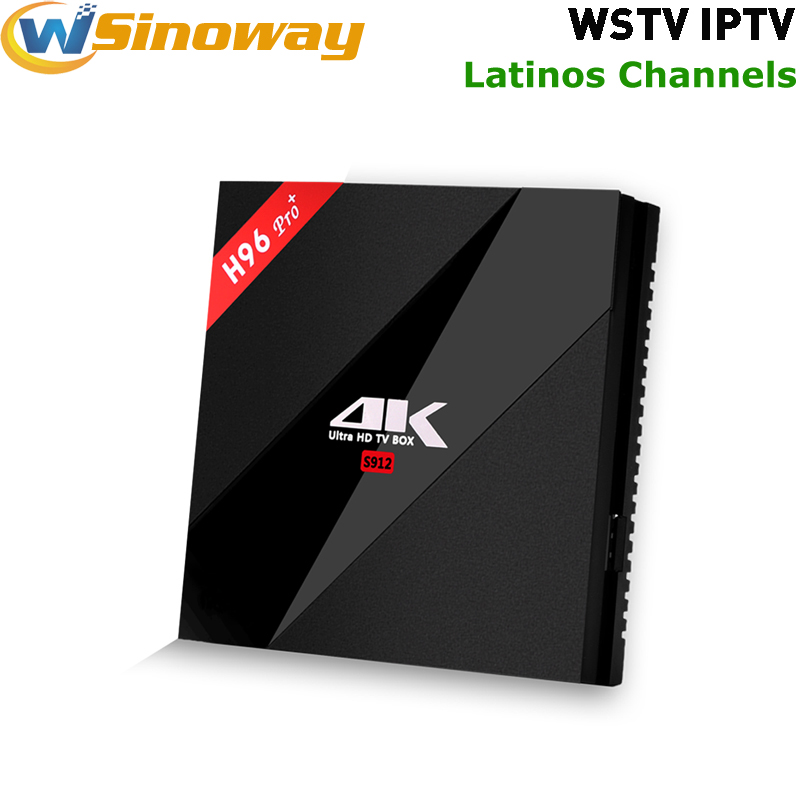 New H96 PRO+ 3G 32G Android 6.0 TV Box Amlogic S912 Octa Core with WSTV Full American channels Latinos Spainish Mexican IPTV(China (Mainland))