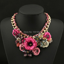 New design spring 2014 gold chain necklace & pendant statement necklace major luxury jewelry wholesale