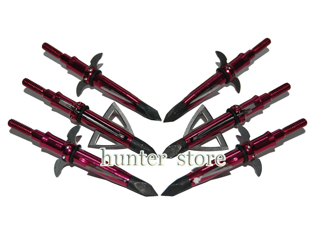 recurve bow hunting or practicing iron archery broadhead 123 grain 4 blades 2 inch cutting screw on aluminum arrow 15pcs<br><br>Aliexpress