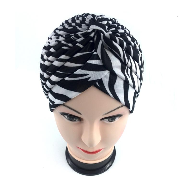 2016 Free Shipping leopard zebra Stretchy Turban Headwrap Hats Band Sleep high Quality Chemo Bandana hijab