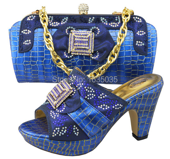 Free shipping! 2014 new design lady shoe and matching bag JB02 in royal blue(China (Mainland))