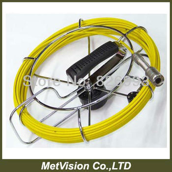 """yellow cable pipe &wall inspection camera system,endoscope camera, 7""""TFT LCD display pipeline inspection system"""