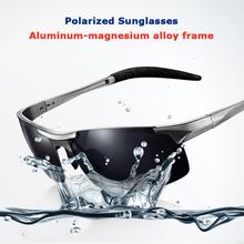 Aluminum-magnesium Frame Polarized Polaroid Driving Gafa Fishing Masculine Black Sunglasses Men's Car Driving Sunglasses(China (Mainland))