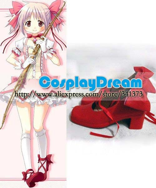 Customize boots Puella Magi Madoka Magica Kaname Cosplay Shoes Anime party cosplay shoes - CosplayDream Store store