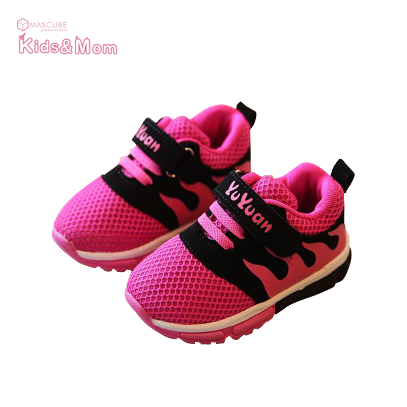 Spring Summer Breathable Boys and Girls Sports Kids Shoes Children Soft Running Shoes Sneakers 1-3 year chaussure fille(China (Mainland))
