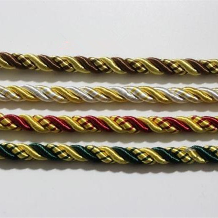 2016 4 Colors Twisted Rope Three strands of Cord for Sofa Cushion Armchair Bag Decorative Accessories 10mm diameter(China (Mainland))