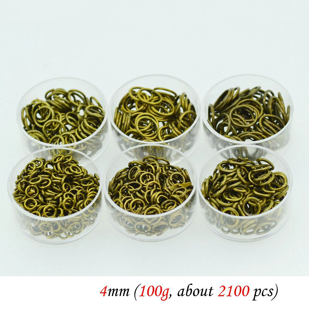 wholesale 2130PCS 4mm bronze closed circle loop  jump rings keychain  wholesale lots jewelry making findings<br><br>Aliexpress