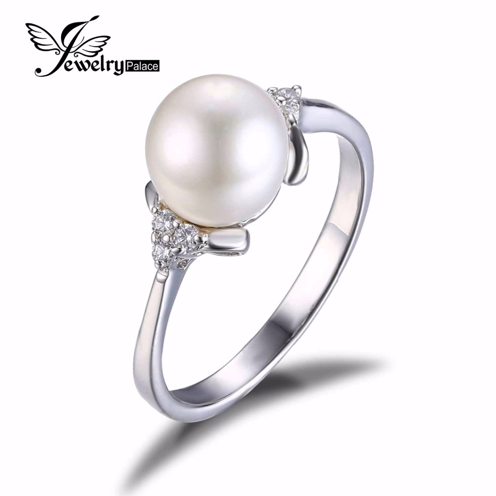 Romantic Natural Freshwater Pearl 925 Sterling Silver Ring 2016 Brand Fine Jewelry For Women June Birthstone Nice Silver Jewelry(China (Mainland))
