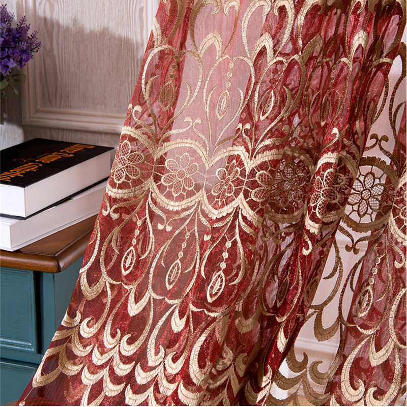 popular red gold curtains buy cheap red gold curtains lots
