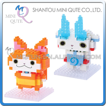 2pcs/lot Mini Qute HC 2 styles kawaii Anime japan LEVEL-5 plastic cube building blocks cartoon game model educational toy