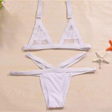 2015 New Summer Sexy Women Vintage Swimwear Bandage Bikini Hollow Out Mesh Bikinis Swimsuit biquinis women(China (Mainland))