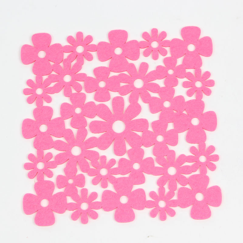 1 Pc Square Hollow-out Style Flower Placemats Floral Printed Table Setting Mat(China (Mainland))