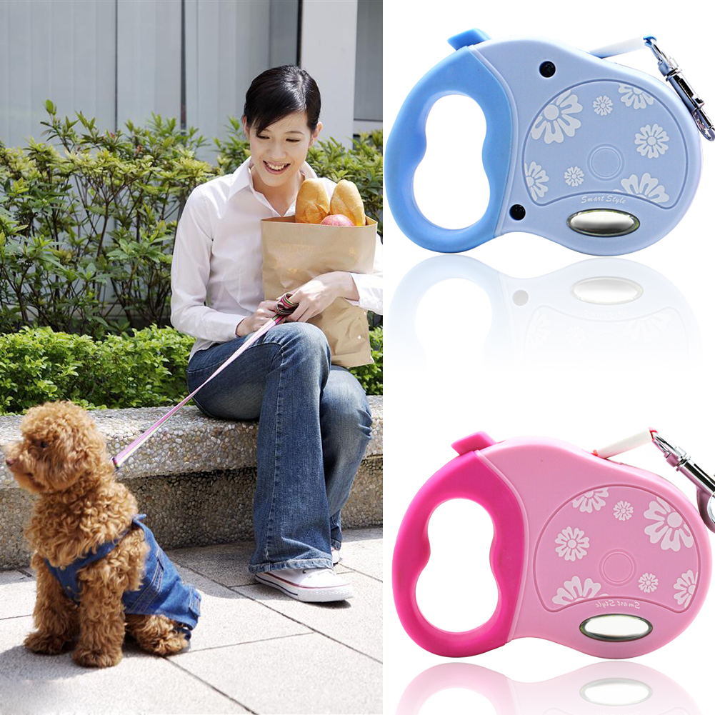 3M Dog Lead Retractable Dog Leash Pet Traction Rope Chain Harness Dog Collar Pet Dog Traction Rope(China (Mainland))