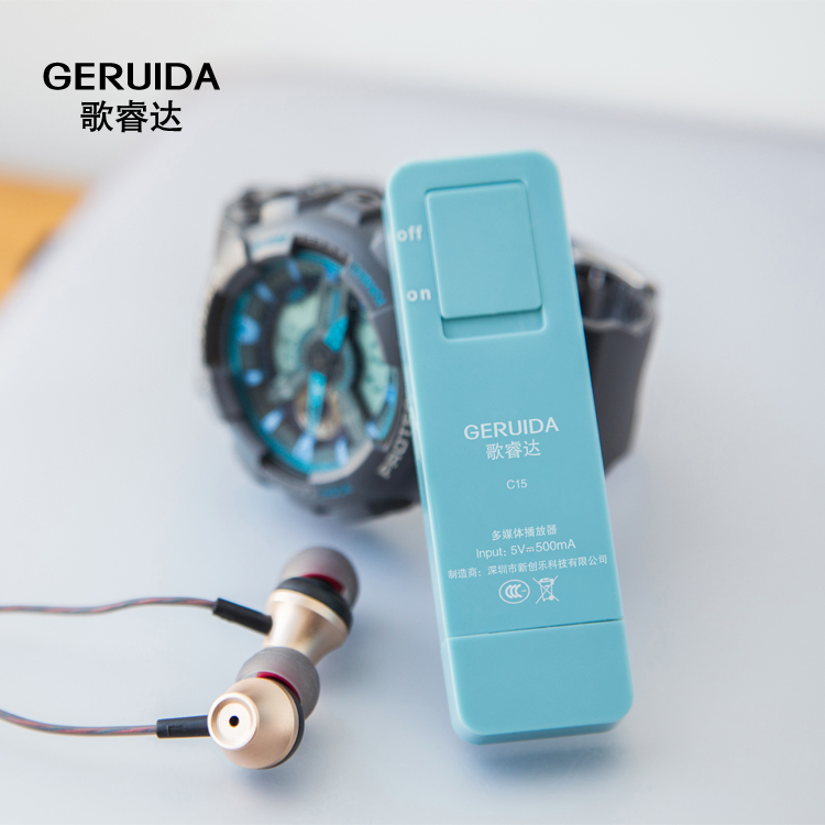 GERUIDA 16G MP3 Music Player Mini Walkman Cute Running Sports MP3 Player Also U Disk Special for Students (18)