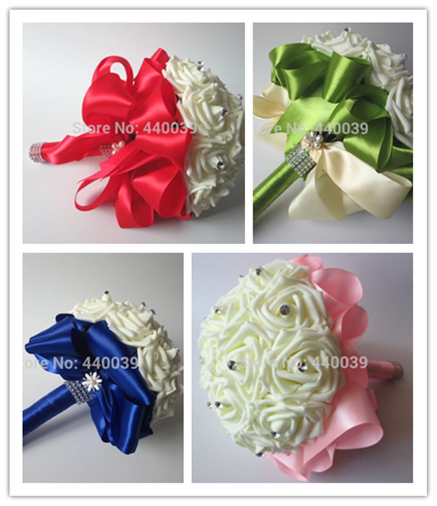 2015 beautiful wedding bouquet wedding flowers bridal bouquets crystal artificial flowers. Black Bedroom Furniture Sets. Home Design Ideas