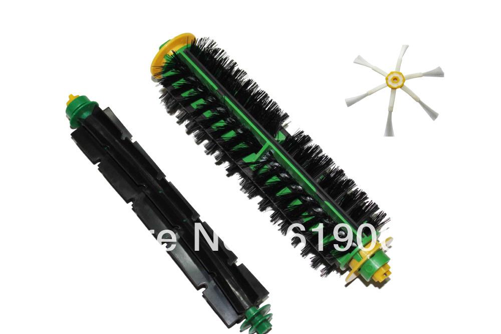Replacement Brush for iRobot Roomba 500 510 530 560 570 580 Cleaner Bristle Brush and Flexible Beater Brush(China (Mainland))